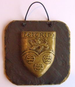 Leitrim County Crest Slate wall Plaque